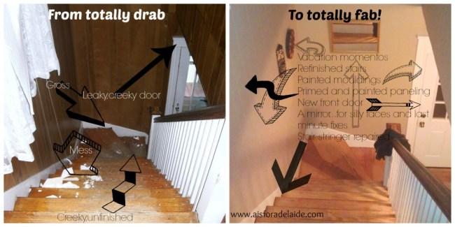 Stairs #diyrenovation #aisforadelaide #diy #craftmanhome