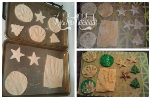 The stages of saltdough ornaments #aisforadelaide