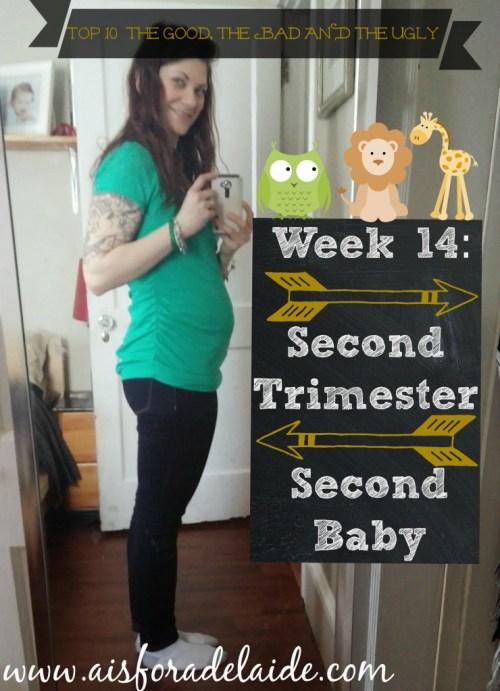 #aisforadelaide #pregnancy #secondtrimester #secondbaby #thegoodthebadandtheugly #top10
