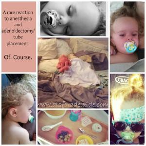 #aisforadelaide #adenoiectomy #rarereaction #surgery #recovery