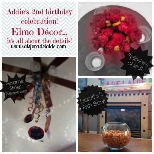 #aisforadelaide #elmo #decor #birthdayparty #secondbirthday #details