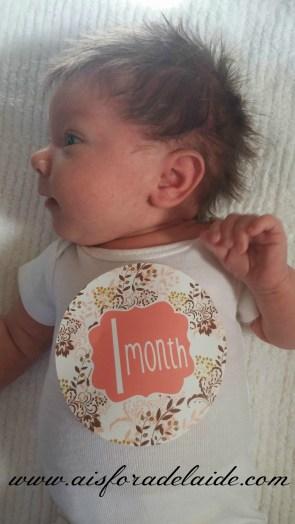#babygirl #CamilleThea #onemonth #marvelousmonday #aisforadelaide