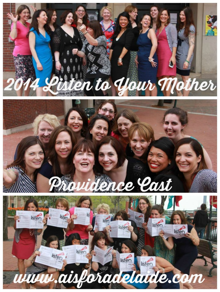 2014 Listen to your mother Cast #providence #aisforadelaide #LTYM