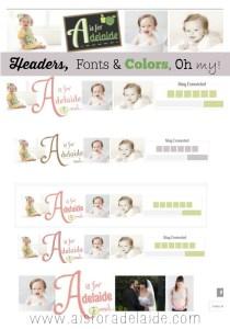 Neapolitan Designs #aisforadelaide #webdesign #blogdesign #graphicdesign #header