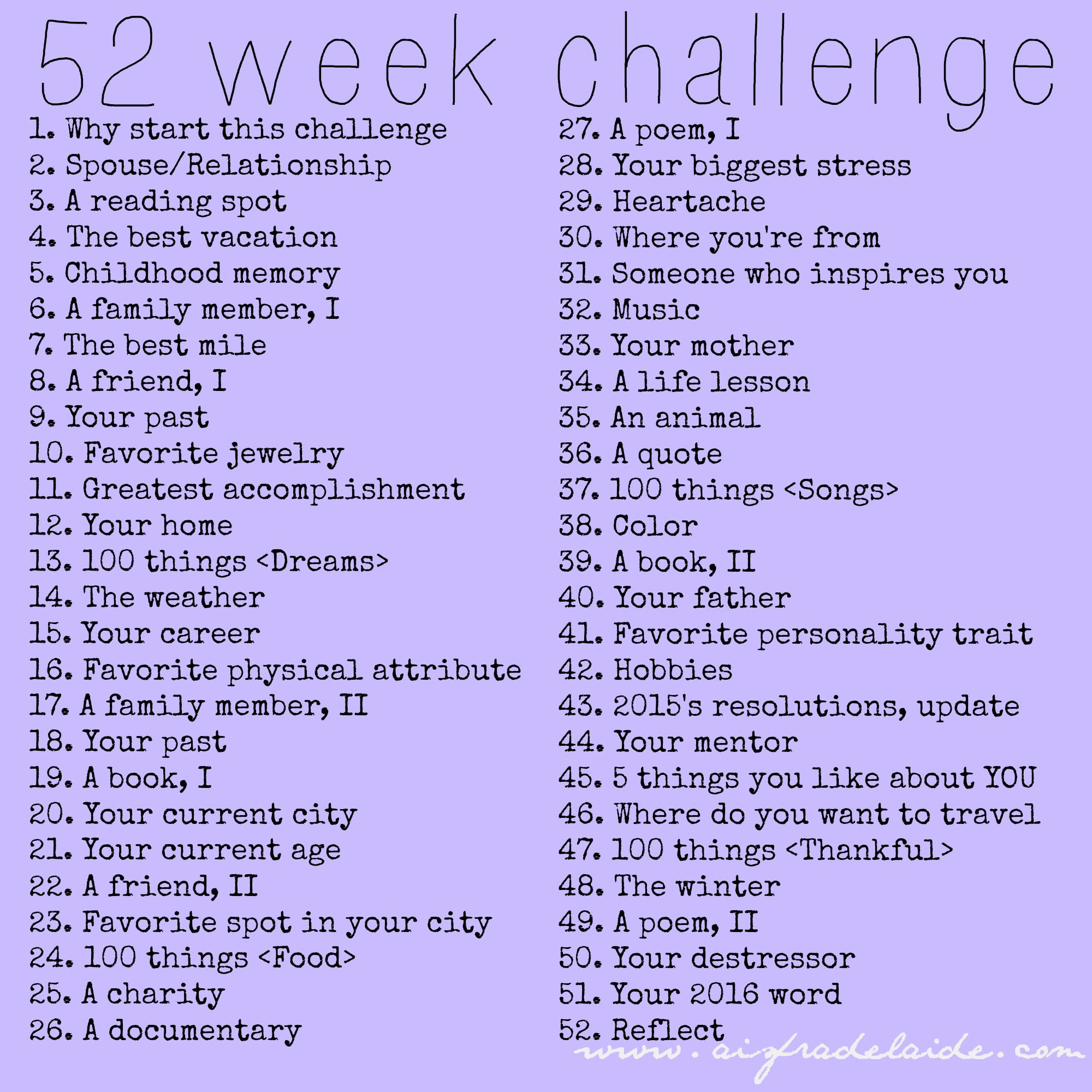 #52WeeksA4A #52weekchallenge 52 week challenge aisforadelaide