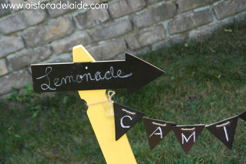 #FirstBirthday #lemonadestand #DIY Project #CamilleThea