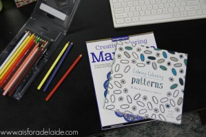#52WeeksA4A week 50, Destressor: Coloring books for adults
