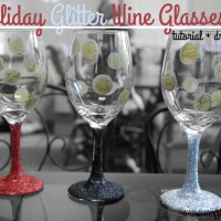 All That Glitters ~ DIY Holiday Wine Glasses