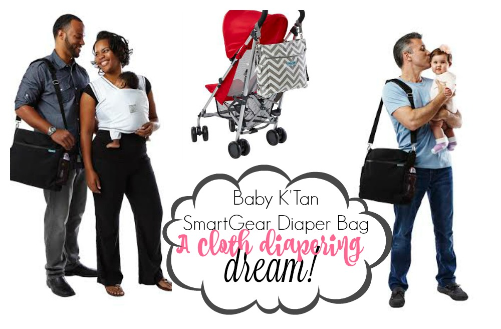 The Baby K'Tan SmartGear Diaper Bag! Perfect for Cloth Diapering!