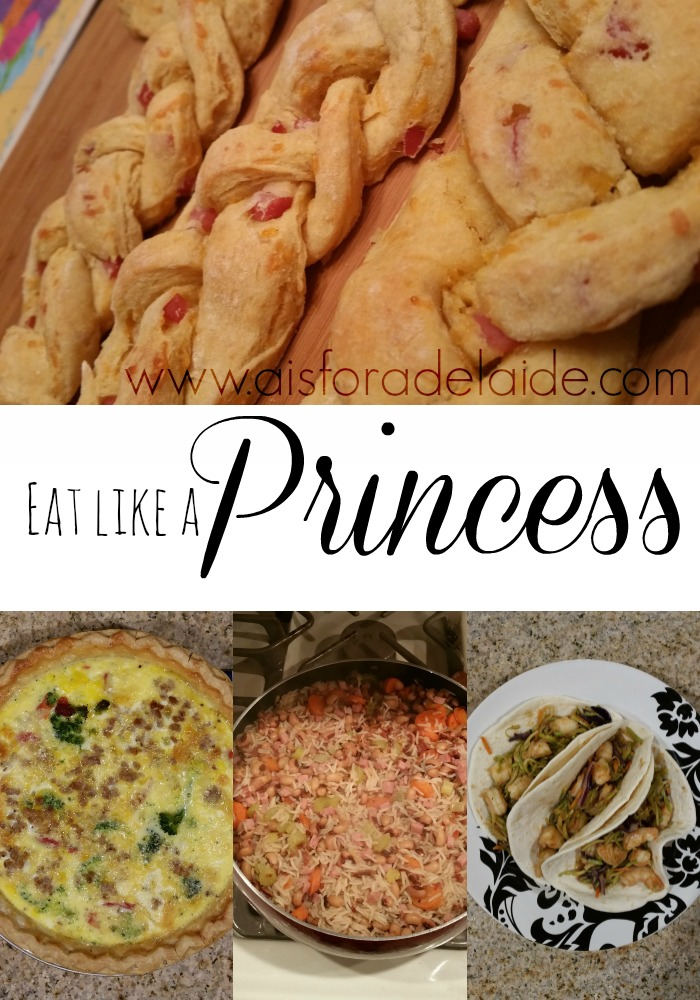 Eating Liike a Princess for a week.