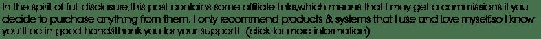 disclosure of affiliate links