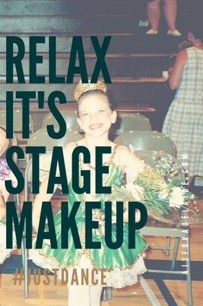 Coming to terms with makeup on my four year old.