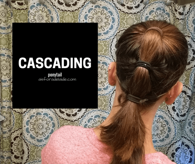 From work to workout: Cascading Ponytail