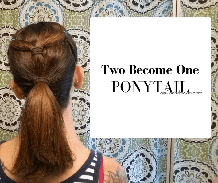 From work to workout: Two-Become-One Ponytail