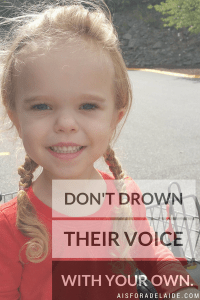 Give your children their own voice. #advocate