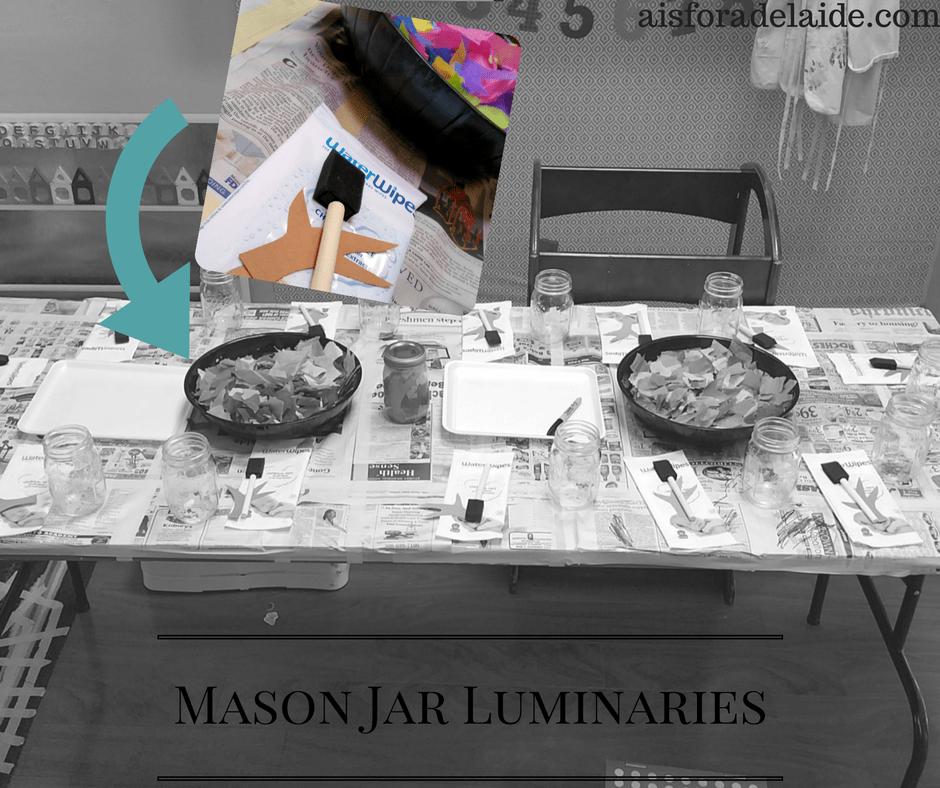 Fall Craft: Mason Jar Luminaries #WaterWipesMom #IC [ad]