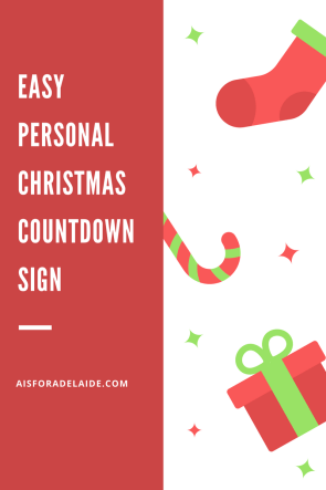 Handmade EASY Custom Countdown to Christmas Sign