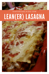 Lean(er) Lasagna: the perfect meal for all days! #recipe