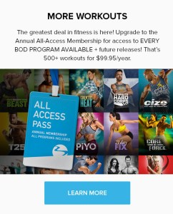 Your Fittest Year EVER--> Beachbody on Demand All Access Pass. THE NETFLI OF FITNESS!