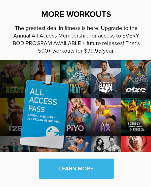 Your Fittest Year EVER: Beachbody on Demand All Access Pass. THE NETFLIX OF FITNESS!