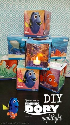 DIY Finding Dory Nightlight plus FREE movie rental with Kleenex! #FamilyMovieWithKleenex #Cbias #ad