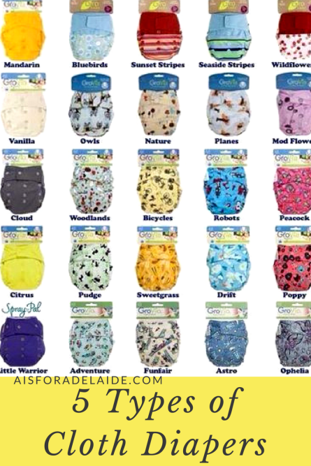 5 Types of Cloth Diapers