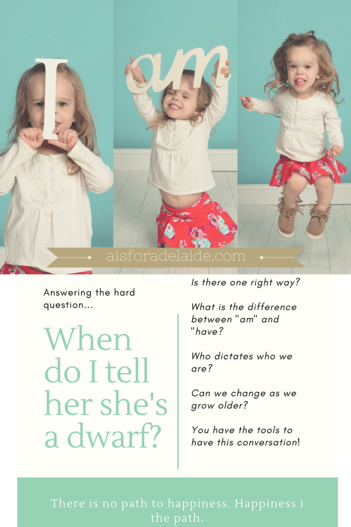 Advocate: Answering the hard questions when can I tell her shes a dwarf?