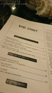 eatDC: Bad Saint