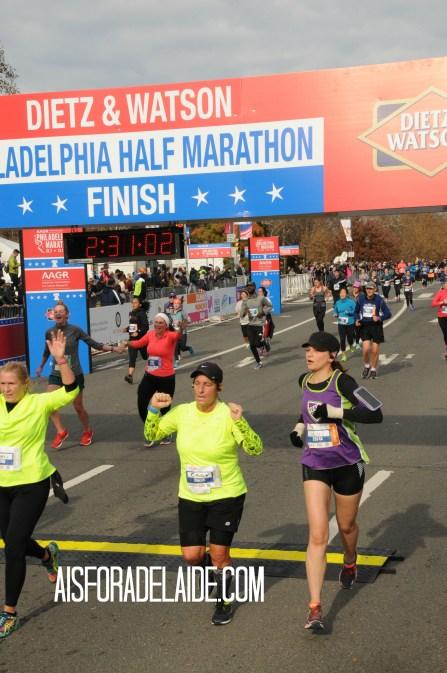 Philadelphia Half Marathon 2017 finisher