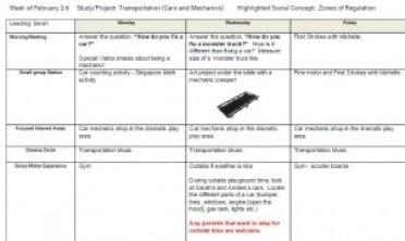 transportation lesson plan