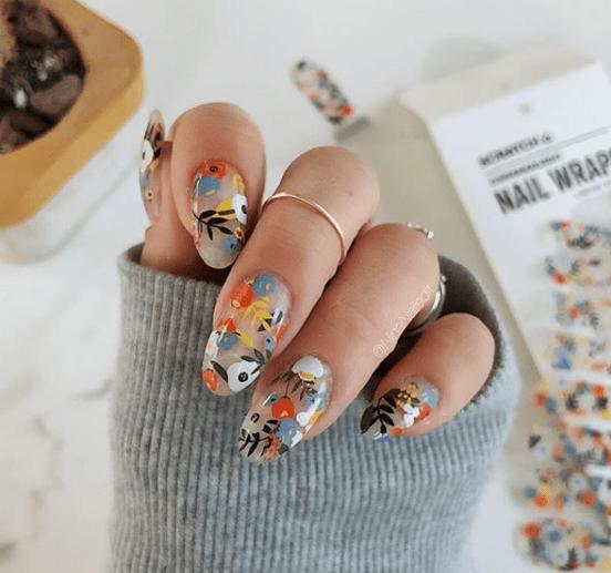 nail wraps, scratch nail wraps
