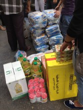 Supplies we purchased for Syrian refugees