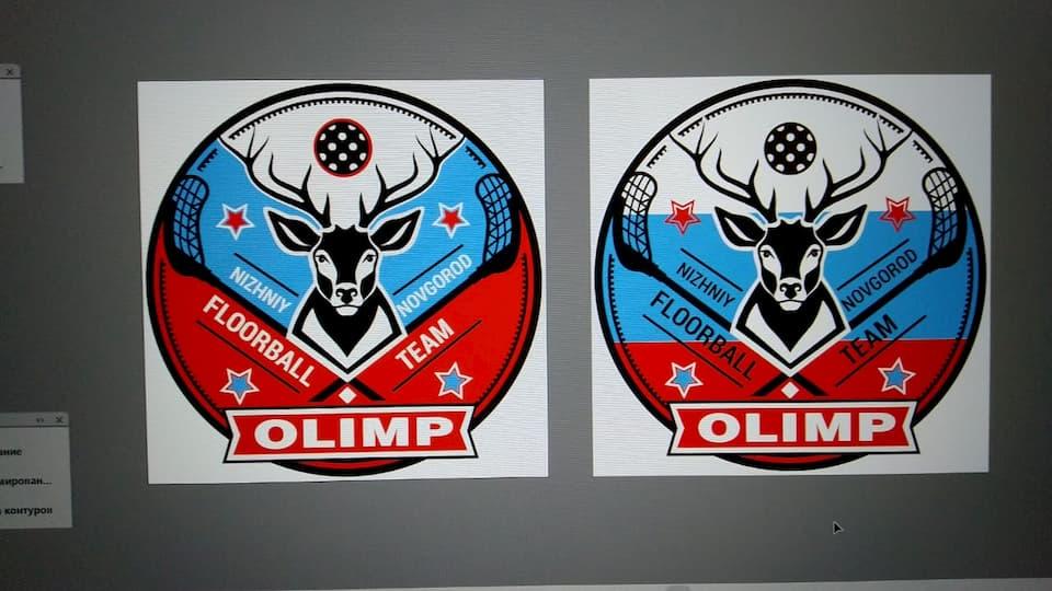 Создание логотипа для флорбольной команды Олимп