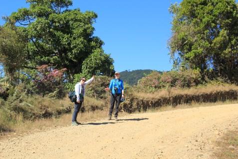 "Liz and Becca walking-birding-""planting"""