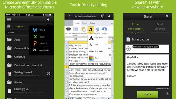تطبيق CloudOn بديل برنامج وورد Word لأجهزة آيباد