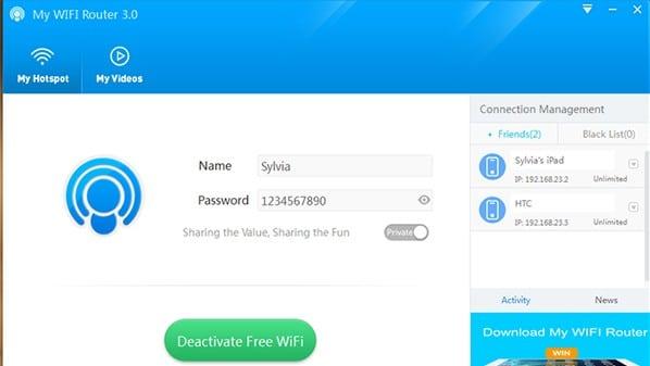 برنامج لتوزيع الإنترنت لبقية الأجهزة في ويندوز