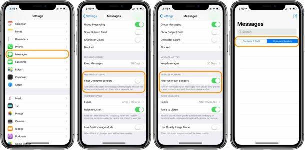 كيف تتخلص من رسائل الأشخاص المجهولين في iMessage على آيفون وآيباد؟