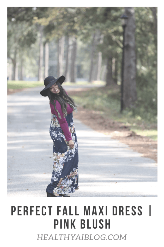 perfect fall maxi dress healthyaiblog