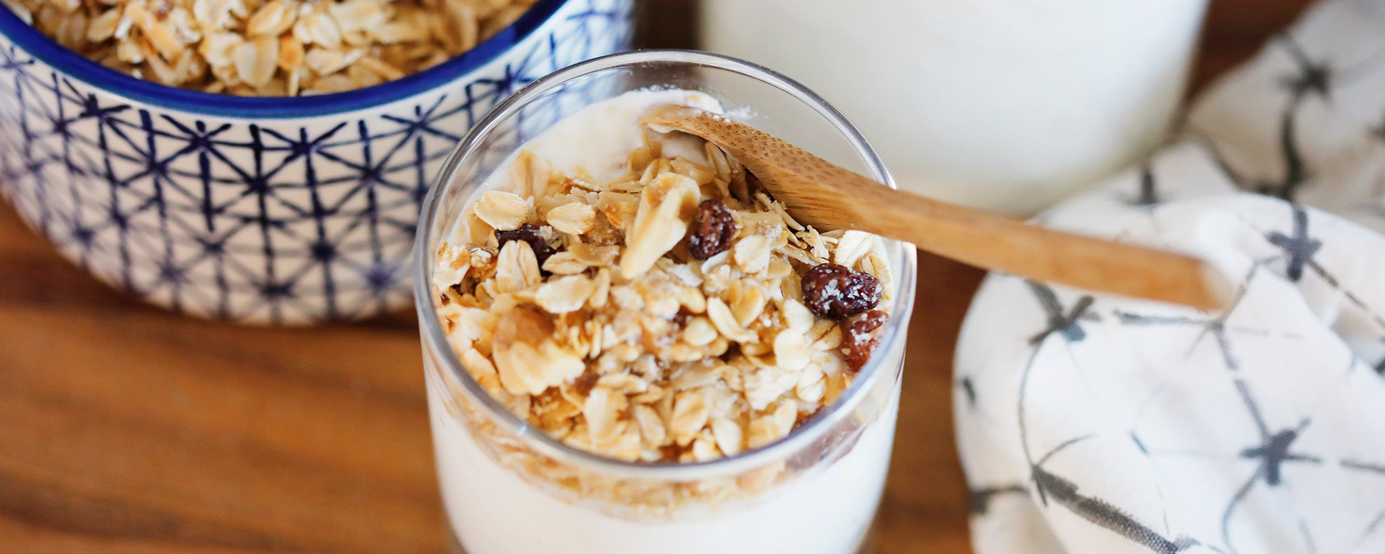 homemade yogurt with homemade granola