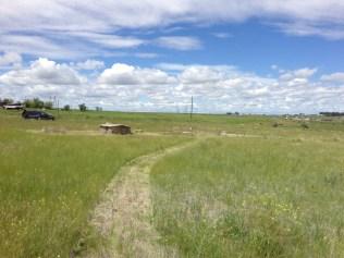 Pathway between the gravesites