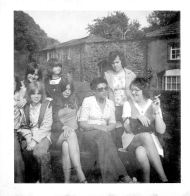 Ann with friends, c. 1970. This photo may be from her time studying History at Notre Dame College in Liverpool.
