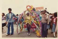 Photo of carnival queen on parade
