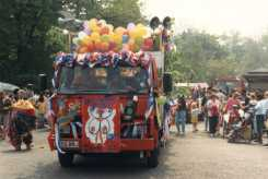 photograph of children on their school float