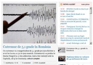 Cutremurul in ziarul Adevarul
