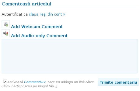 Comentarii audio-video