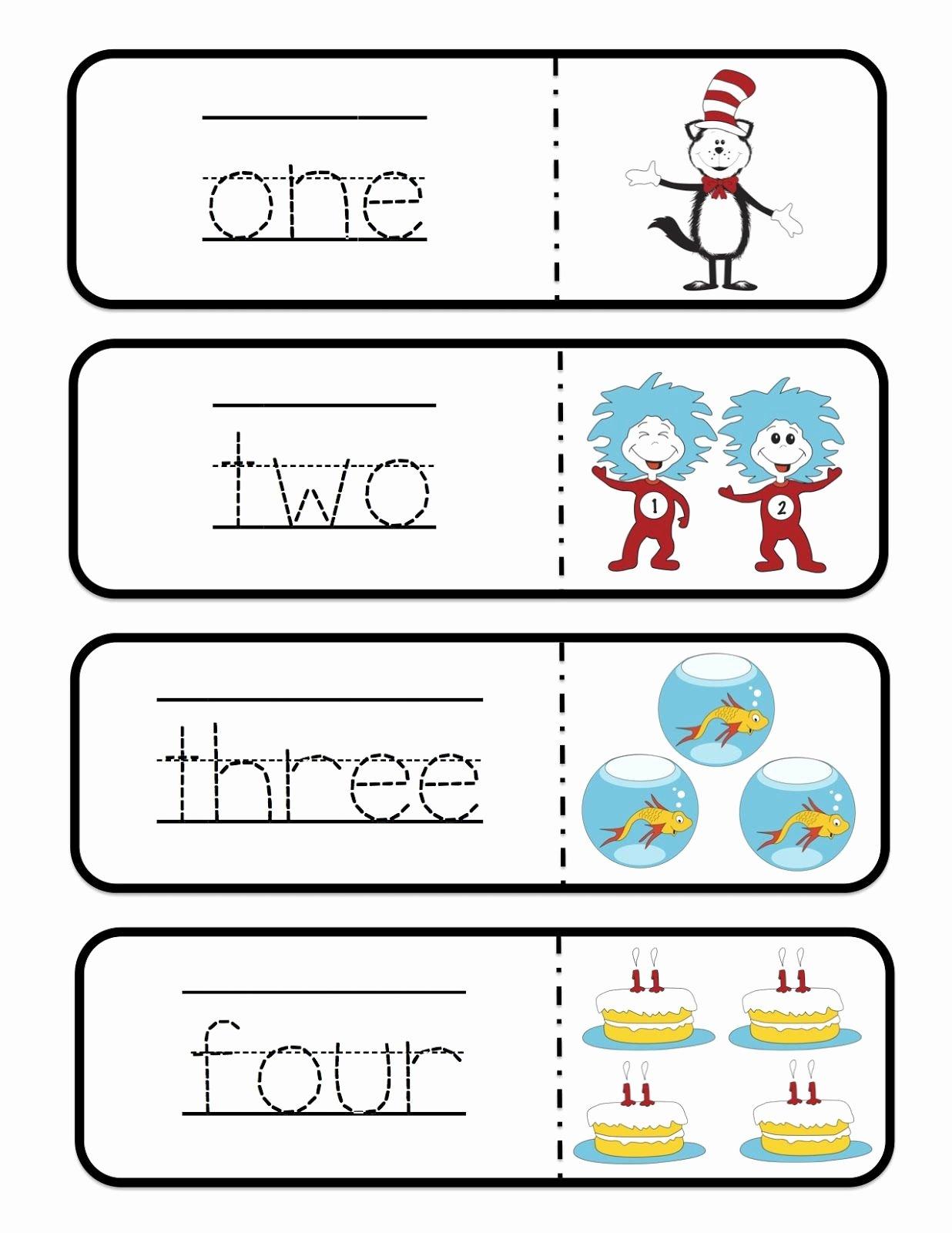 Dr Seuss Worksheets For Preschoolers
