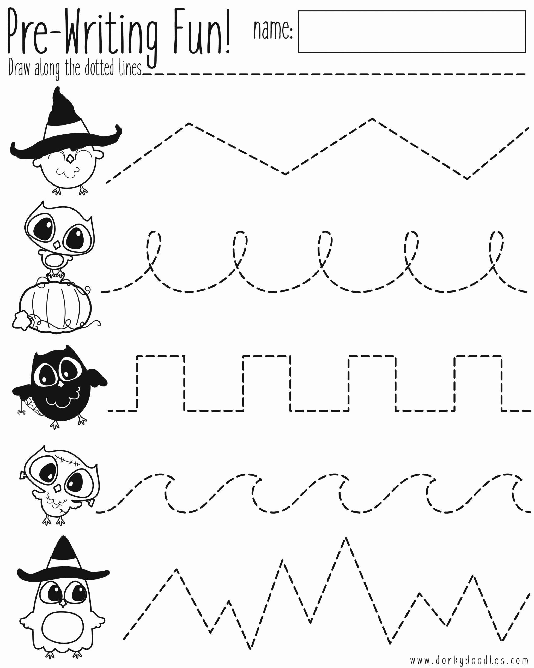 Halloween Worksheets For Preschoolers