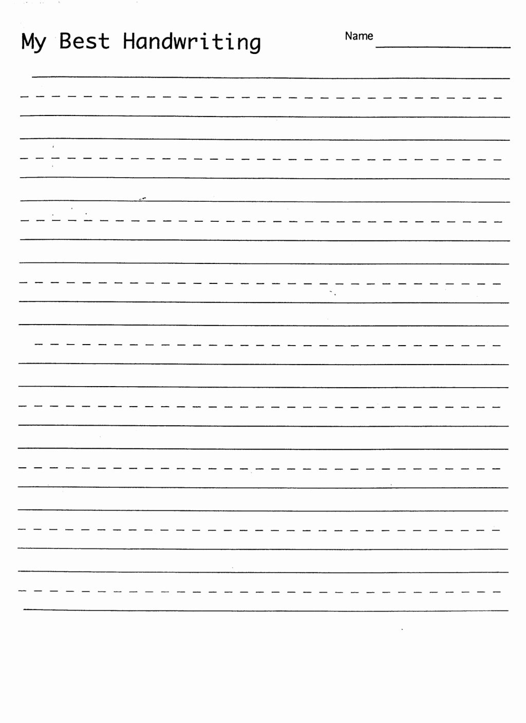 Handwriting Worksheets For Preschoolers