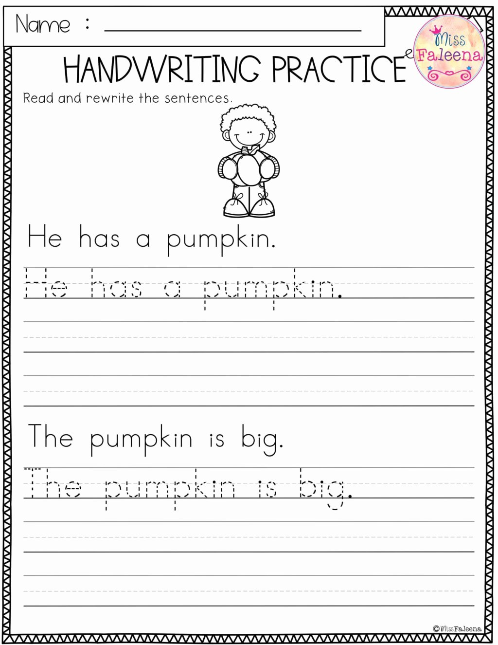 Learning To Write Worksheets For Preschoolers