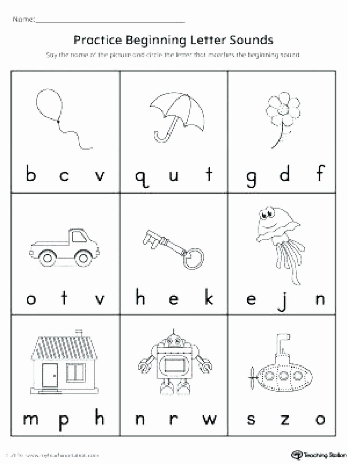Letter Sound Worksheets For Preschoolers